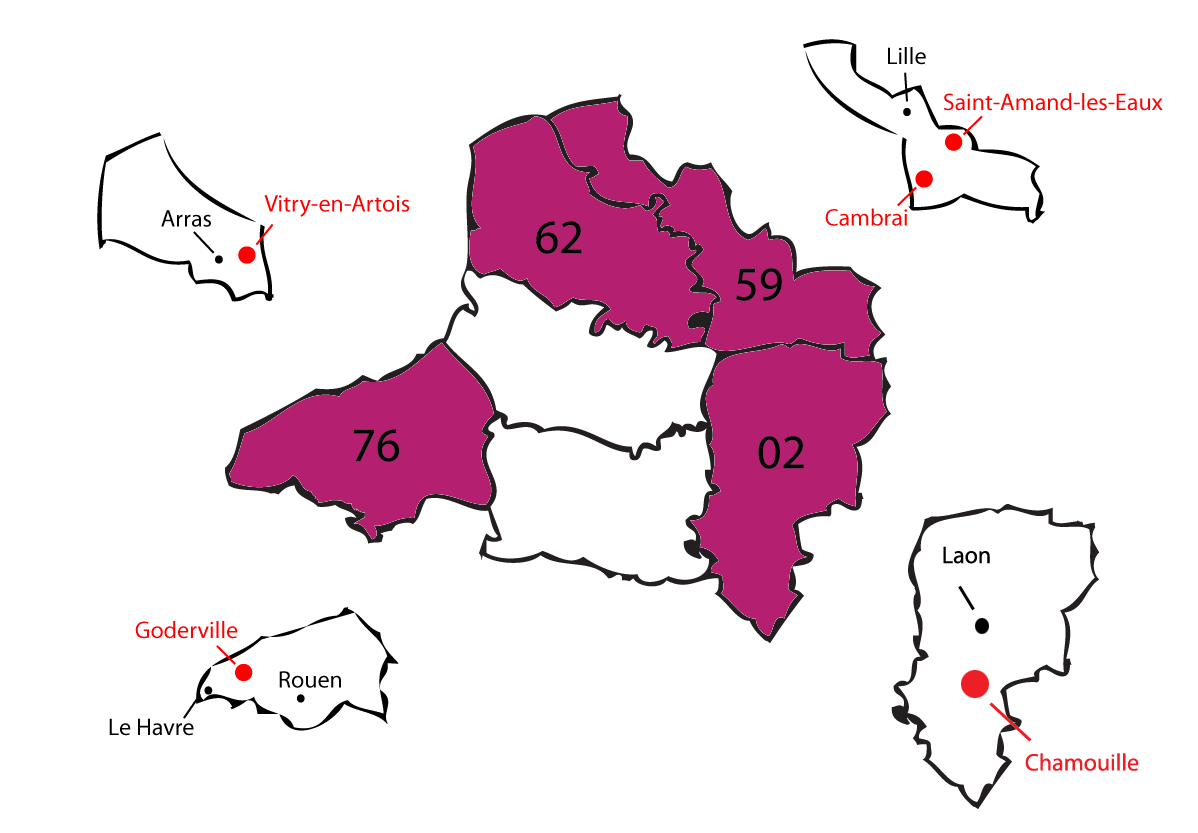 carte departements 2